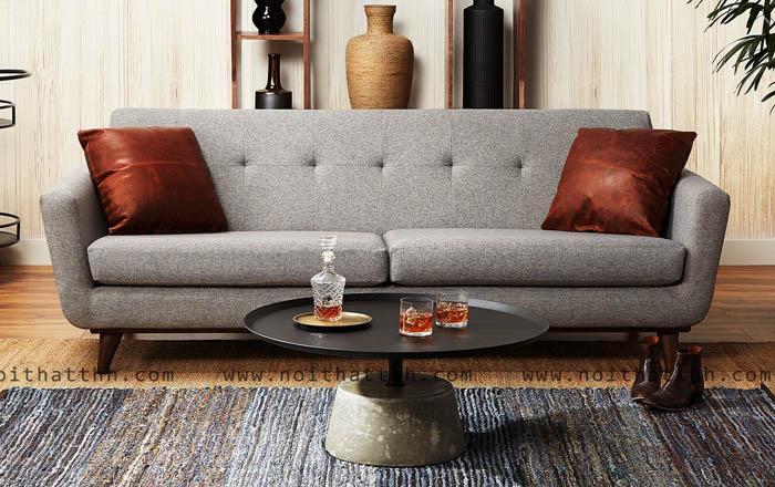 Sofa đế gỗ đơn giản