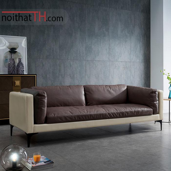 Sofa văng da đơn giản